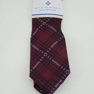 Ryan Seacrest Mens Neck Wear Studio Plaid Neck Tie